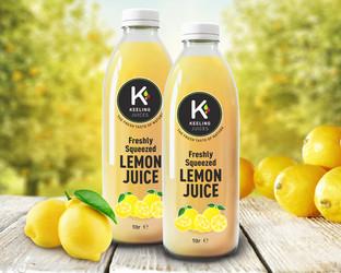 Keeling Lemon Juice  Packaging Design