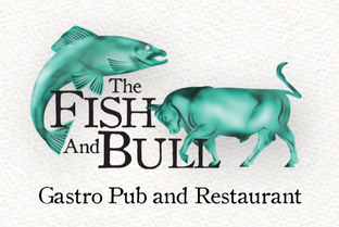 fish and bull logo design