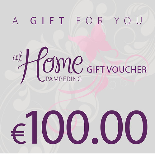 €100 Euro At Home Pampering Voucher