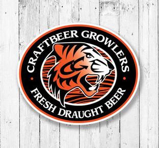 craftbeer growlers logo design