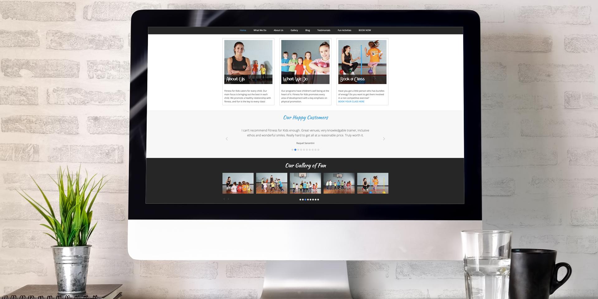 Fitness for Kids Website