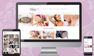 at home pampering website design