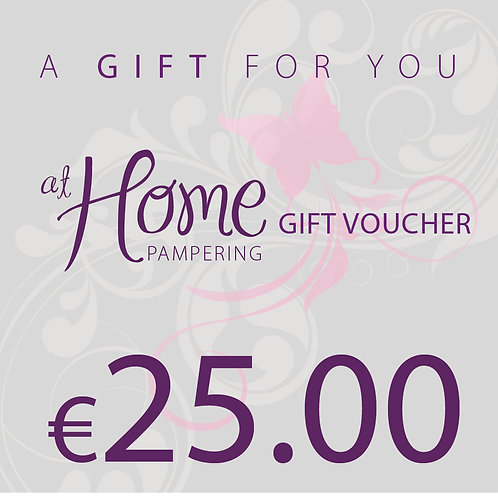 25.00 euro At Home Pampering Voucher