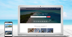 The Travel Directory website design