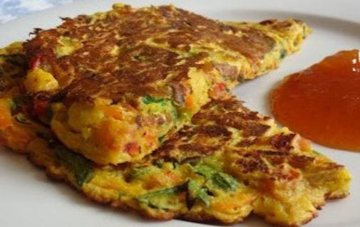 Veggie-Bread Pancake