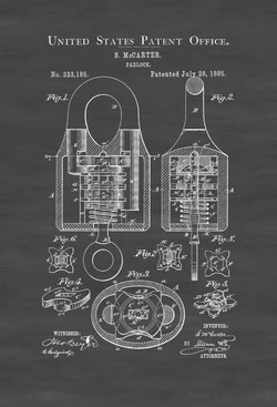 1885-padlock-patent-vintage-padlock-wall
