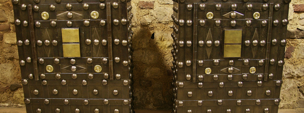 Antieke Kluizen Brandkasten Reparatie Op
