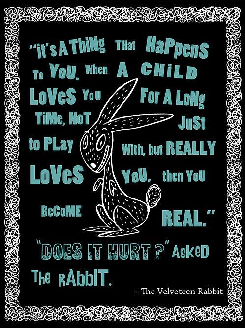Velveteen Rabbit Black and White