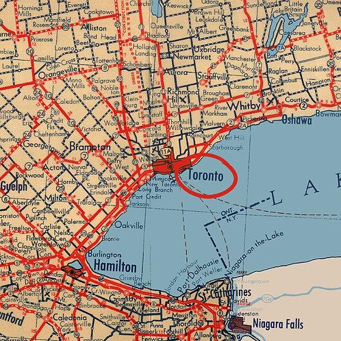 Toronto Driving Map