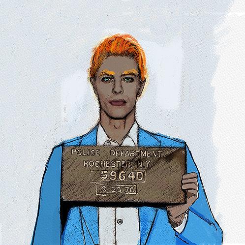 Bowie Mugshot