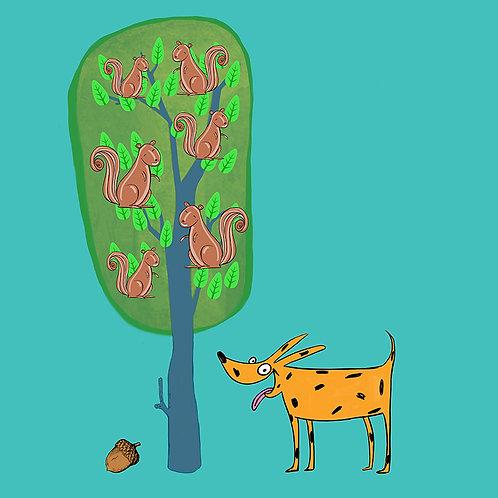 Dog and Tree scene