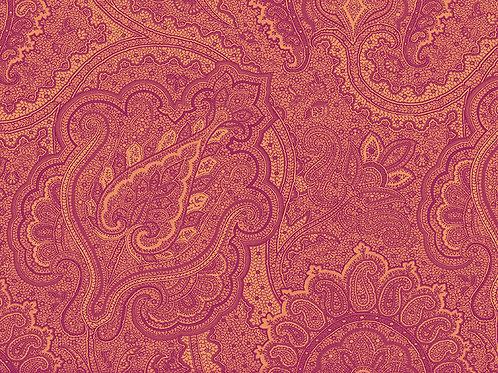 Pink and Orange Paisley