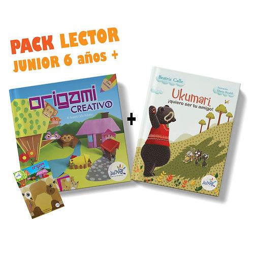 Pack lector junior 6 años a más / Origami Creativo 1 + Ukumari