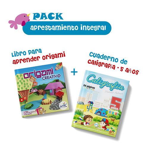 Pack aprestamiento integral Origami creativo 1 más caligrafía 5 años