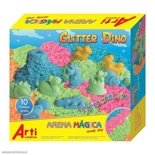 Arena mágica glitter Dino