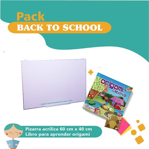 Pack back to school Pizarra + origami creativo 1