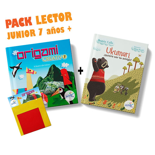 Pack lector junior 7 años a más / Origami Creativo 2 + Ukumari