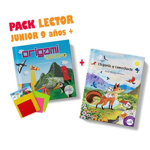 Pack lector junior  origami creativo 2 más cuento Elegante y Comechoclo