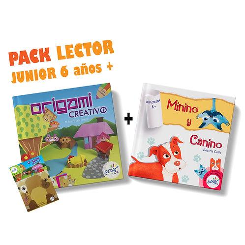 Pack lector junior 6 años a más / Origami Creativo 1 + Minino y Canino