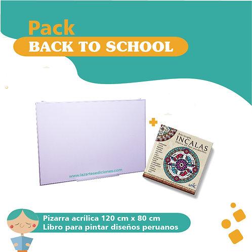 Pack back to school Pizarra + Libro incalas