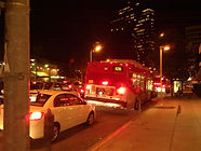 Los Angeles Metro's Route 920 Rapid stuck in congestion (Photo: Author)