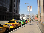 Taxis waiting at dedicated stands in Los Angeles' Bunker Hill neighborhood (Photo: Author)