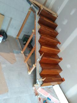 Revestimiento de iroco escalera