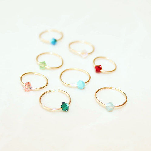 Beaded nose (or ear) ring