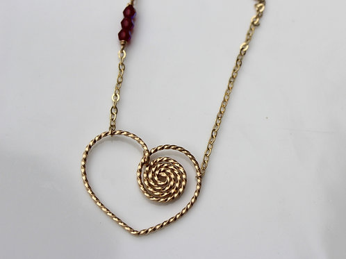 Spiral Heart Necklace