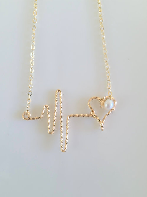 Pearl lifeline necklace