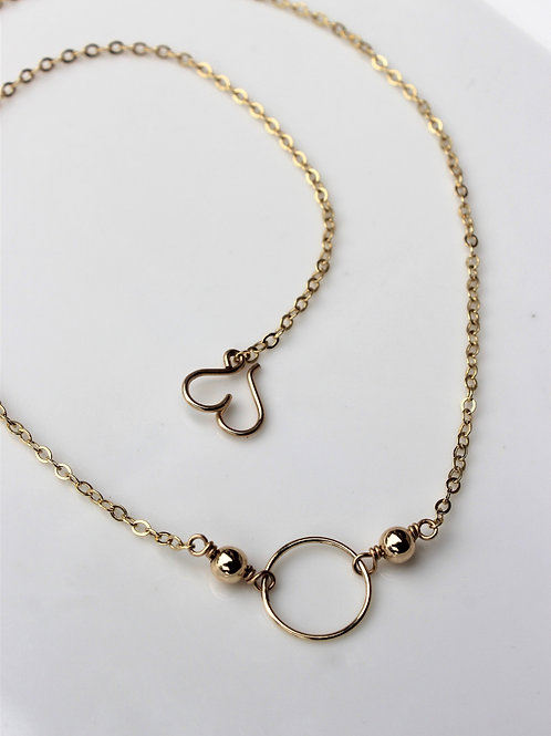 "Gold on Gold ""O"" Necklace"
