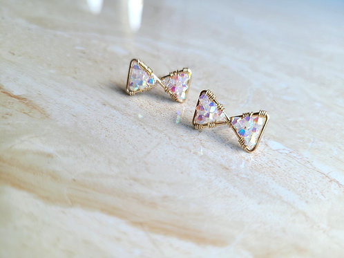 Shimmer Bow Studs