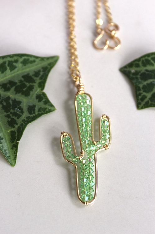 Peridot Cactus Necklace