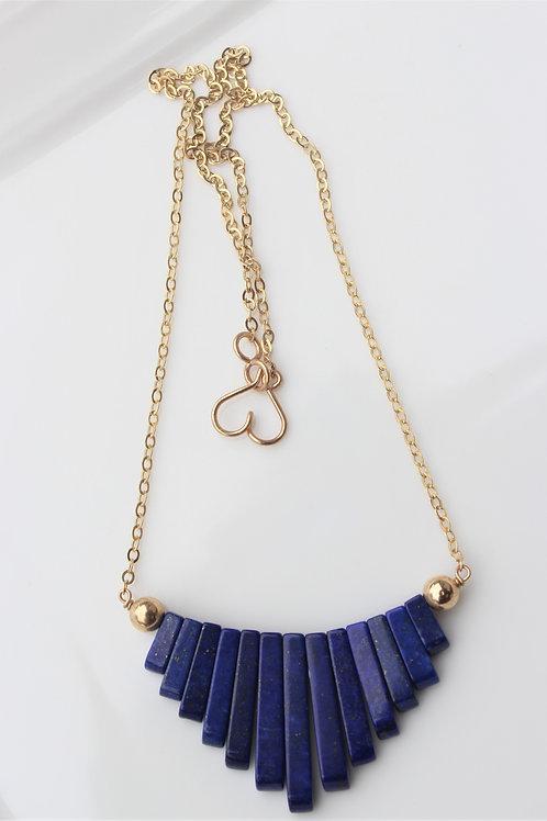 Lapiz Lazuli Fan Necklace