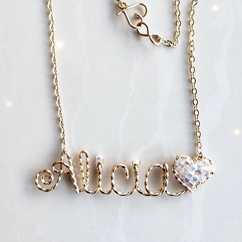 Twisted Extra Name Necklace Design