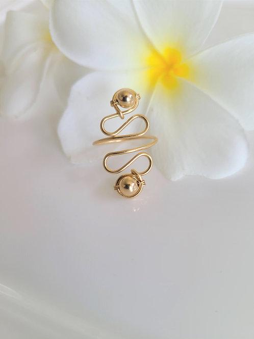 Gold on Gold Swirl Ring