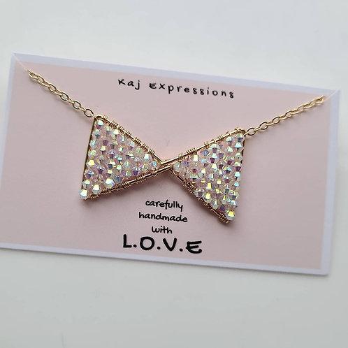 Sparkle Bow Necklace