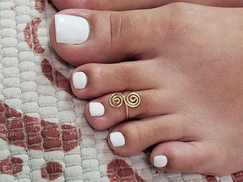 Double Spiral toe ring