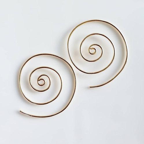 Infinity spiral hoops