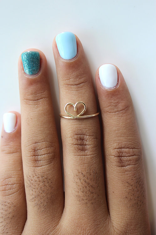 Center Heart Ring