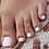 Thumbnail: Double Spiral toe ring