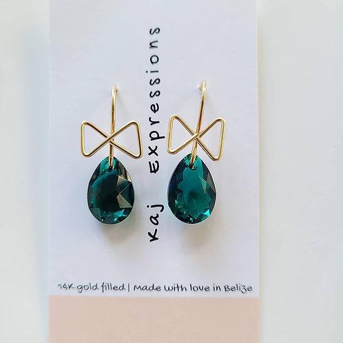 Emerald Bow Drops