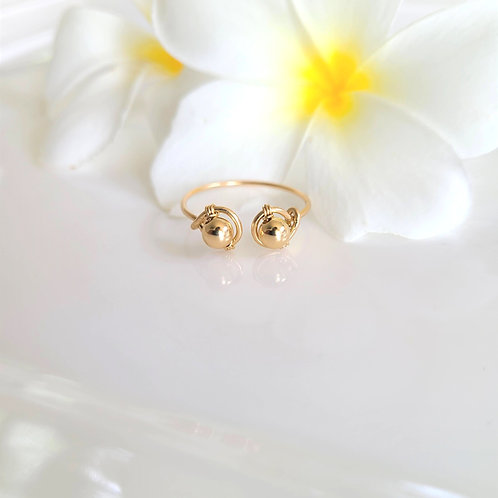 Gold on Gold cuff ring