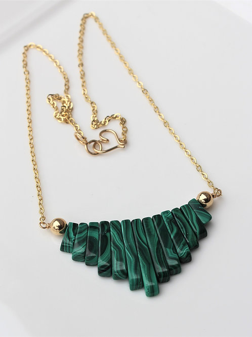 Malachite Fan Necklace