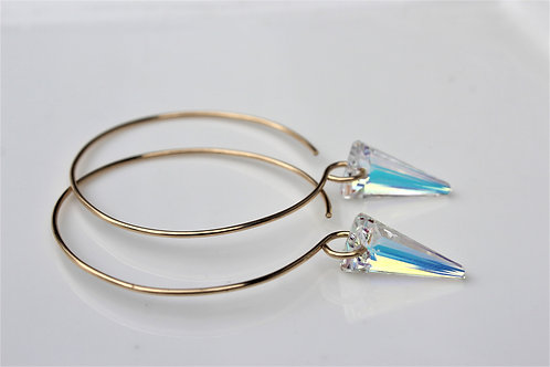 Sparkle Hoops (Clear Triangle Edition)