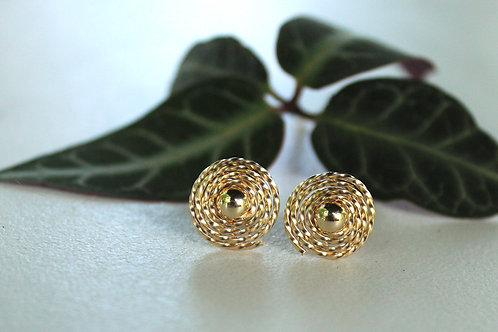 Gold on Gold Spiral Studs