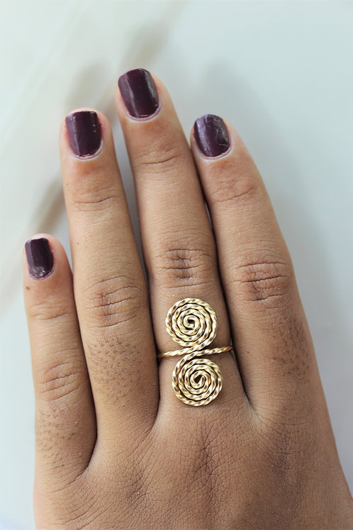 Double  Infinity Spiral Ring