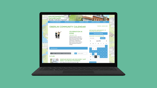 Oberlin Calendar Web Design