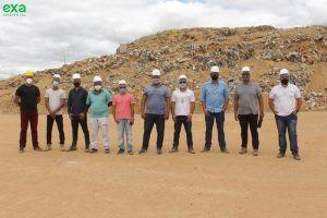Comitiva do Vale do Jiquiriçá visita Aterro Sanitário em Itiúba.