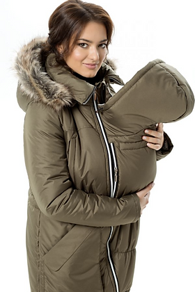 Winter Parka with Faux Fur (Olive)
